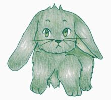 Small Fluffy Green Bunny Kids Clothes