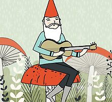 Happy Birthday - Gnome Plays Guitar by Paper Sparrow