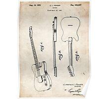 Fender Telecaster Guitar US Patent Art Poster