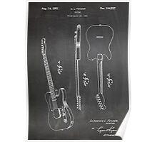 Fender Telecaster Guitar US Patent Art Blackboard Poster