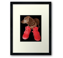 Jeff in Red Octobers Framed Print