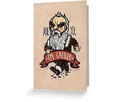 Galileo - Vintage Beard Greeting Card