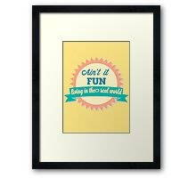 Don't Go Crying Framed Print