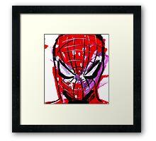 Spiderman splash Framed Print