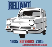 White Reliant Regal van by car2oonz
