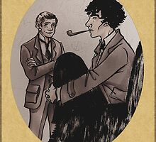 Victorian Sherlock and John by aStudyInInk