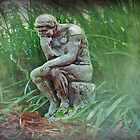 Gardening Thinker by Bine
