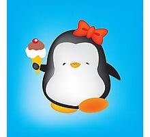Ice cream penguin Photographic Print