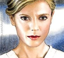Emilia Fox miniature by wu-wei