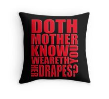 AVENGERS - Doth Mother Know... Throw Pillow
