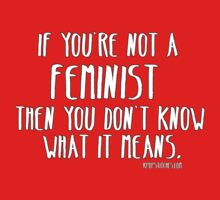 If you're not a feminist then you don't know what it mean. by dubukat