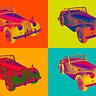 1964 Morgan Plus 4 Convertible Pop Art by KWJphotoart