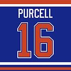 Edmonton Oilers Teddy Purcell Jersey Back Phone Case by Russ Jericho
