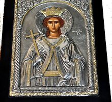BYZANTINE ICON STERLING SILVER AND GOLD by JAYMILO