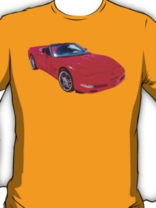 Red C5 Corvette convertible Muscle Car T-Shirt