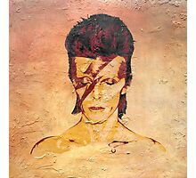 Aladdin Sane 'Rock Art' Album Cover Photographic Print