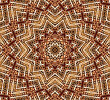Light and Dark Brown Kaleiduscope-Mandala by pASob-dESIGN