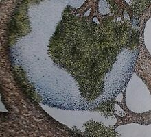 World cradled by Tree by DotInk