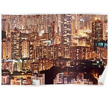 Hong Kong City Density Poster
