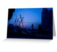 Hong Kong Blue Sunset Greeting Card