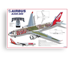 Airlines Collection Airbus A330-200 TAM Canvas Print