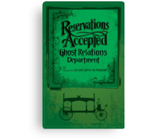 Reservations Accepted design by Topher Adam Canvas Print