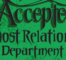 Reservations Accepted design by Topher Adam Sticker