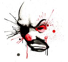 Clown Bank Robber Splatter by LVBART
