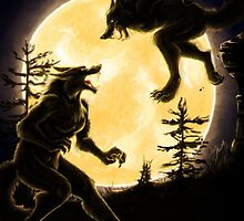 Werewolf Fight by Mithmeoi