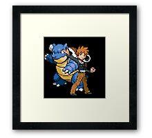 Blue and Blastoise Framed Print