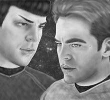 Kirk and Spock- Spirk by artbycheryllyne