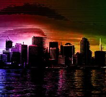Glitchy City [Multicolor Version] by Lazard