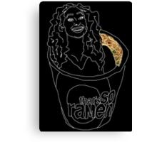 That's SO Ramen 4/4 noodles white Canvas Print