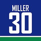 Vancouver Canucks Ryan Miller Jersey Back Phone Case by Russ Jericho
