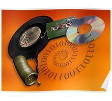 Evolution of music media Poster