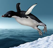 Adelie Penguin by Paul Fleet
