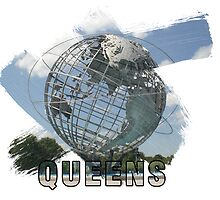 Queens, New York Grunge Logo by retrosauce