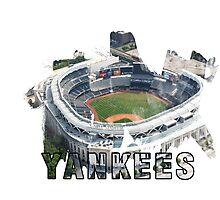 Yankee Stadium Grunge Logo Photographic Print