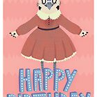 Melanie The Bluejay Happy Birthday Card by Claire Stamper