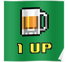 1UP Beer Poster