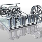 Twin cylinder steam engine by Paul Fleet