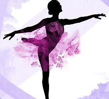 Watercolor Ballerina by imagerially
