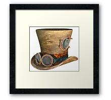 Steampunk Hat and Goggles Framed Print