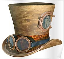 Steampunk Hat and Goggles Poster