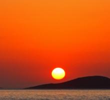 Dodecanese sunset Sticker