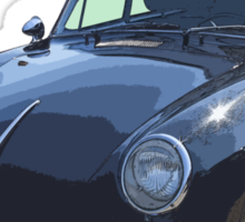 Black 1962  Porsche 356 E Sticker