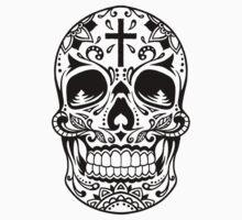 Sugar Skull, Day Of the Dead, Halloween Black SugarSkull T-Shirt