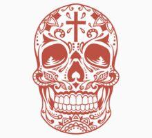 Sugar Skull, Day Of the Dead, Halloween Orange SugarSkull T-Shirt