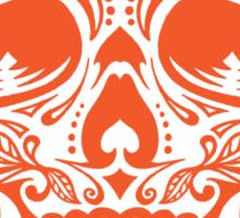 Sugar Skull, Day Of the Dead, Halloween Orange SugarSkull Sticker