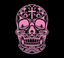 Sugar Skull, Day Of the Dead, Halloween Pink SugarSkull by Carolina Swagger